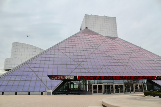 The Rock and Roll Hall of Fame was designed by I.M. Pei and opened in 1995.